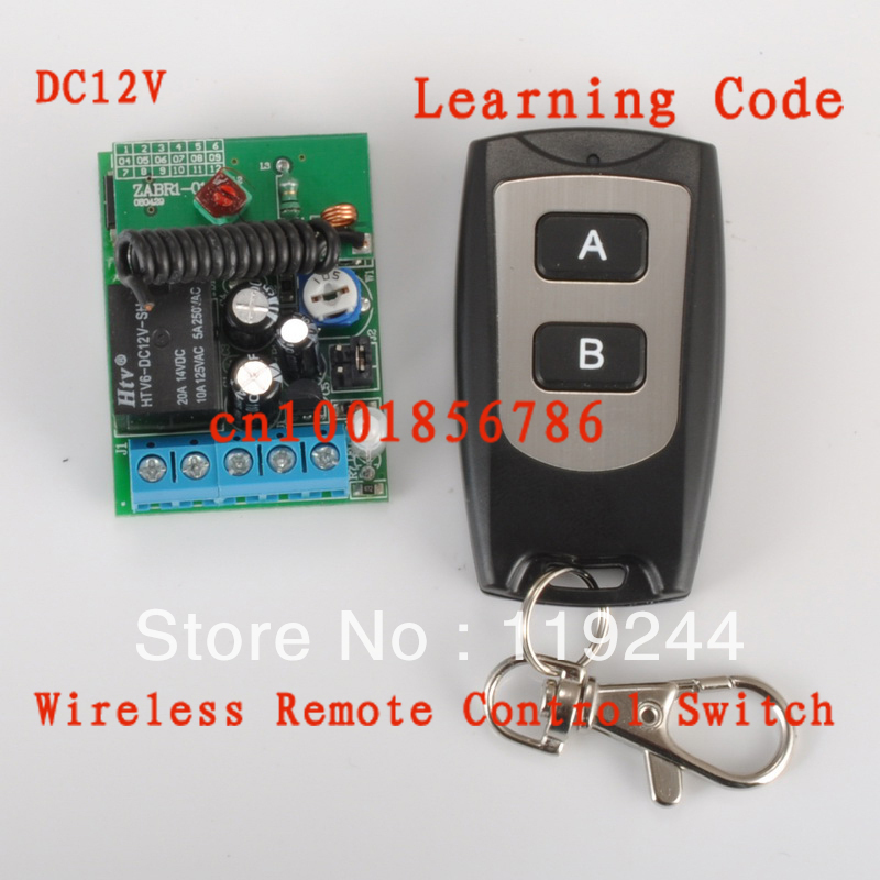 Delay Time Timer DC 12v 1CH 20A Relay Wireless Remote Control RF Switch on//off