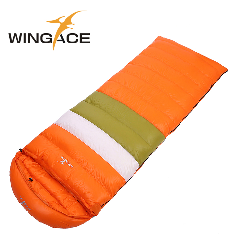 WINGACE 3 Season Fill 1000G Duck Down Ultralight Sleeping Bag Camping Equipment Outdoor Tourism Envelope Sleeping Bags Adult in Sleeping Bags from Sports Entertainment