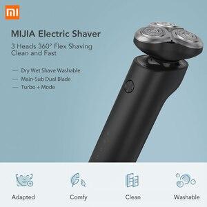 Image 2 - شاومي Mijia الحلاقة الكهربائية Xiomi USB الشحن السريع Xaomi 360 درجة تعويم الحلاقة Xiami الحلاقة الكهربائية للرجال