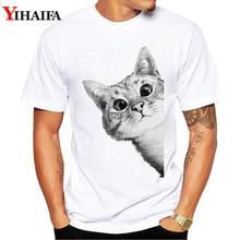 3D Cat Print Casual Harajuku Men T-Shirt Summer Short sleeve Fashion Round Neck Camiseta Hombre