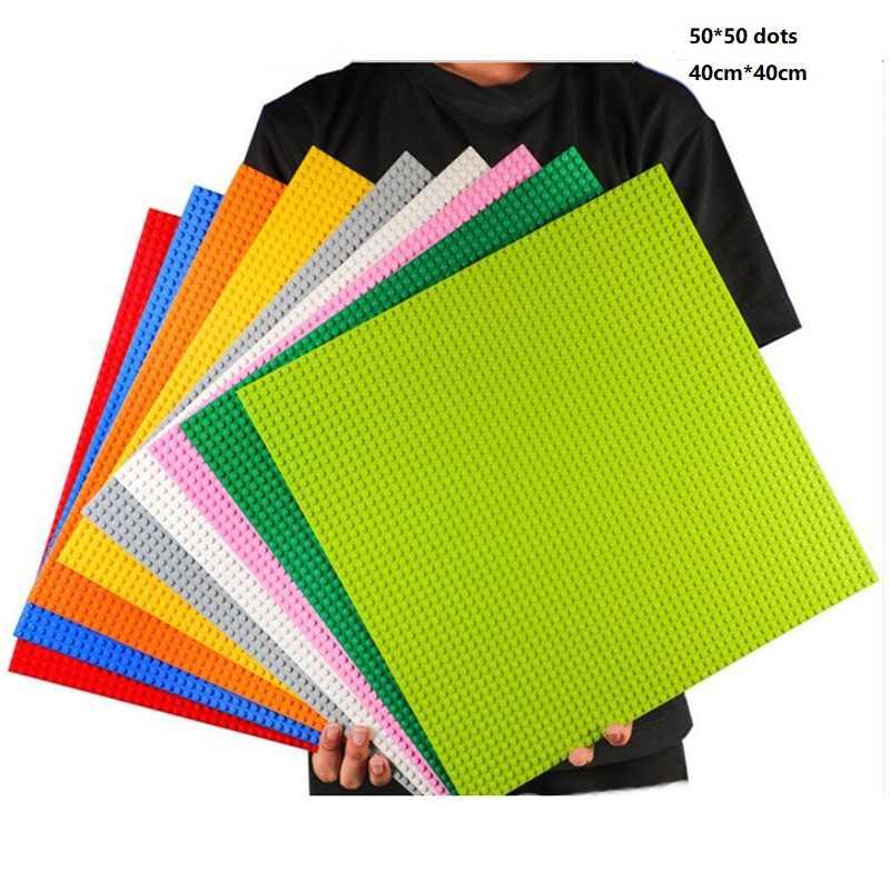 1PCS Super Große Größe 40*40cm basis platte für Kleine Ziegel Blöcke kompatibel legoed DIY Grundplatte 50*50 punkte Basis Platte Bord
