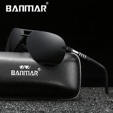 BANMAR Brand New Unisex Rimless Polarized Sunglasses Women Men Design Travel Driving Sun Glasses Classic Male Eyewear Gafas