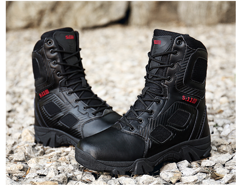 Brand Men\'s Boots Big Size Military boot Chukka Ankle Bot Tactical Army Male Shoes Safety Combat Mens Motocycle Boots (17)