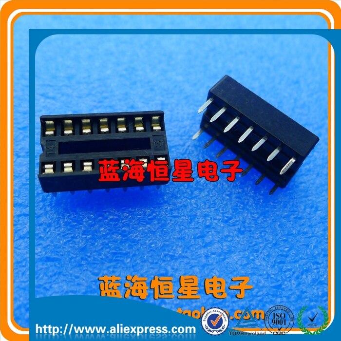14P IC Блок 14P держатель чипа DIP 14 Чип Разъем DIP14