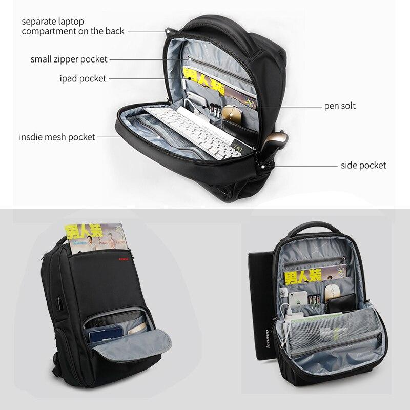 BOPAI, брендовый Многофункциональный рюкзак для путешествий, сумка, большая вместительность, наплечная сумка, рюкзак для ноутбука, модный муж... - 3
