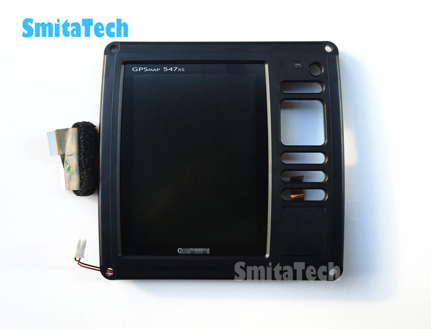 LCD display panel LCD screen with frame for Garmin GPSMAP 547xs chartplotter Sounder fishfinder Scanning