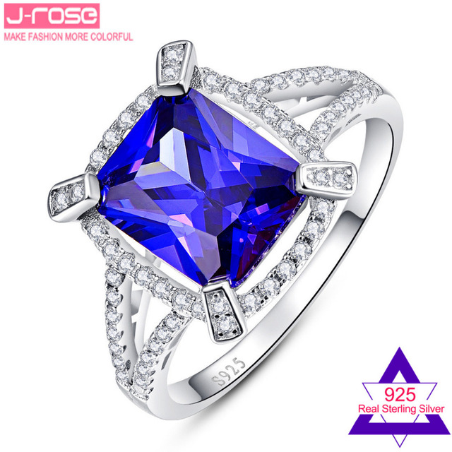 Jrose 5.0CT AAA Cubic Zirconia Gorgeous Women's Ring Engagement S925 Sterling Silver Fine Jewelry SZ 6-9 Gift with Box