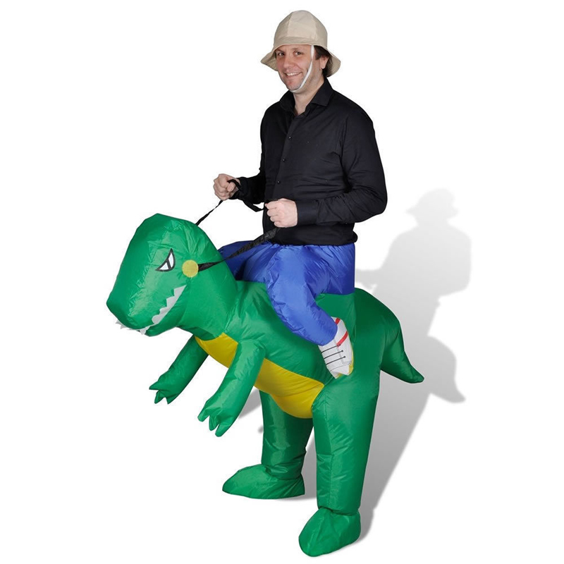 Halloween Inflatable Dinosaur Costume Cosplay Party Airblow NEW 2nd Gen Adult Dino Rider Costume