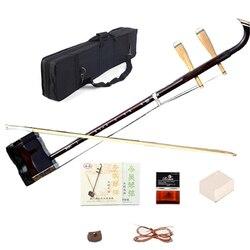 Chiński Erhu z litego drewna dwa struny skrzypce ekskluzywny grawerowane kod Urheen muzyczne instrumenty strunowe z kalafonii łuk i przypadku