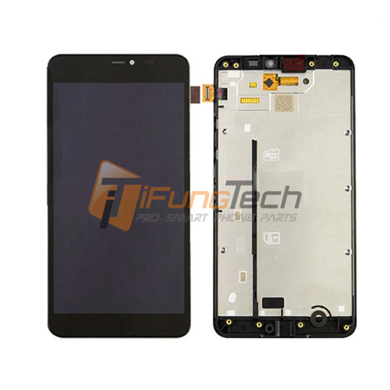 Black For Nokia Lumia 640XL N640XL 640 XL LCD Display Touch Screen Digitizer Assembly + Bezel Frame Part Tool Logo Free Shipping black lcd display touch screen digitizer assembly with bezel frame for nokia lumia 1520 replacements part free shipping