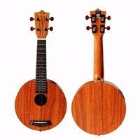 Enya EUR X1 21 дюймов круговой Форма HPL КоА укулеле Уке Гавайи мини гитара