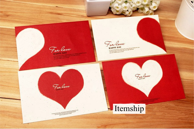 itemship creative romantic love letter envelope letterheads set of