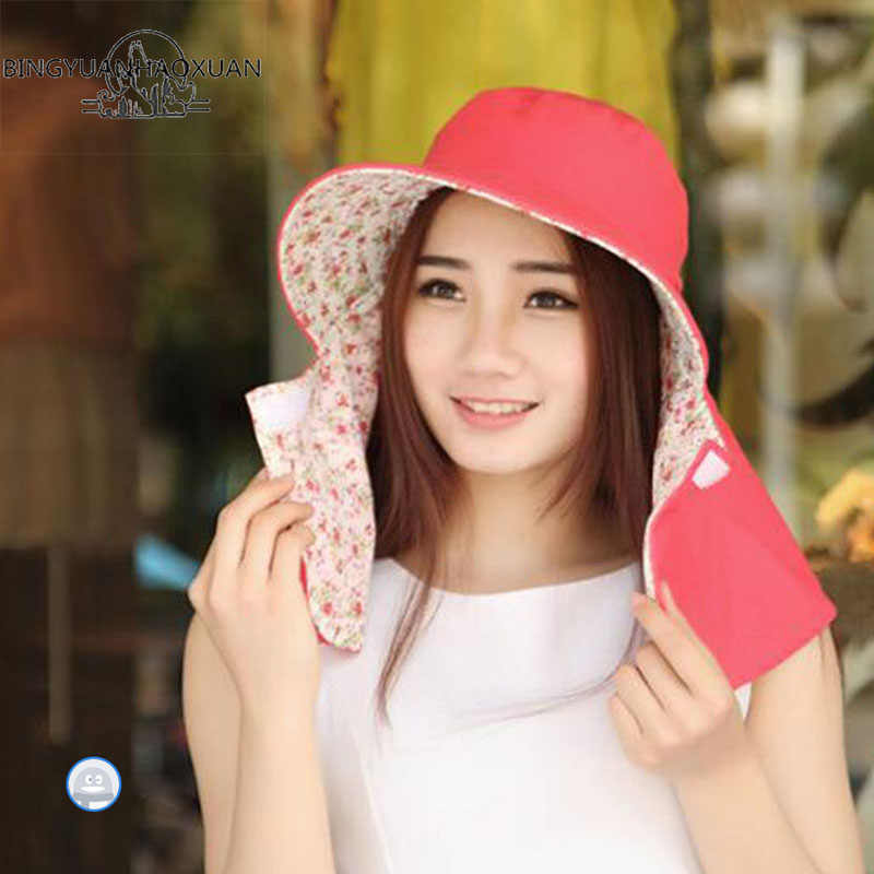 11f7d0737 BINGYUANHAOXUAN Outdoor Sun Hat UV Protection Hat Fishing Cap Bucket Hats  Unisex Sunhat For Beach
