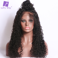 LUFFY Malaysian Curly Human Hair 5*4.5 Silk Base Glueless Full Lace Wigs For Black Women Pre Plucked Natural Hairline Non Remy