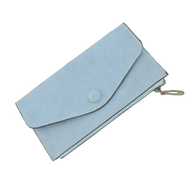 2018 Luxury Women Wallet PU Leather Long Solid Zipper Wallet Money Bag Coin Purse Female Credit Card Holder Long Lady Clutch 1