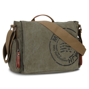 Image 2 - Manjianghong Leisure Canvas Mens Briefcase Bags Quality Guaranteed Mans Shoulder Bag Fashion Business Functional Messenger Bag