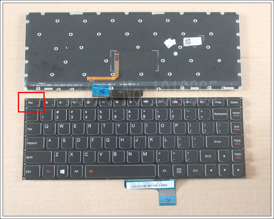 US 100% New Laptop Keyboard FOR Lenovo Ideapad E31-70 E31-80 US Keyboard Backlit new us keyboard for acer aspire vn7 793g vx5 591g vx5 591g 52wn us laptop keyboard with backlit
