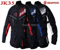 2015 Nowy SCOYCO Kurtka Moto wyścigi motocyklowe konna ubrania odzież kurtki DROP wiatroszczelna kurtka JK35 zima weatherization