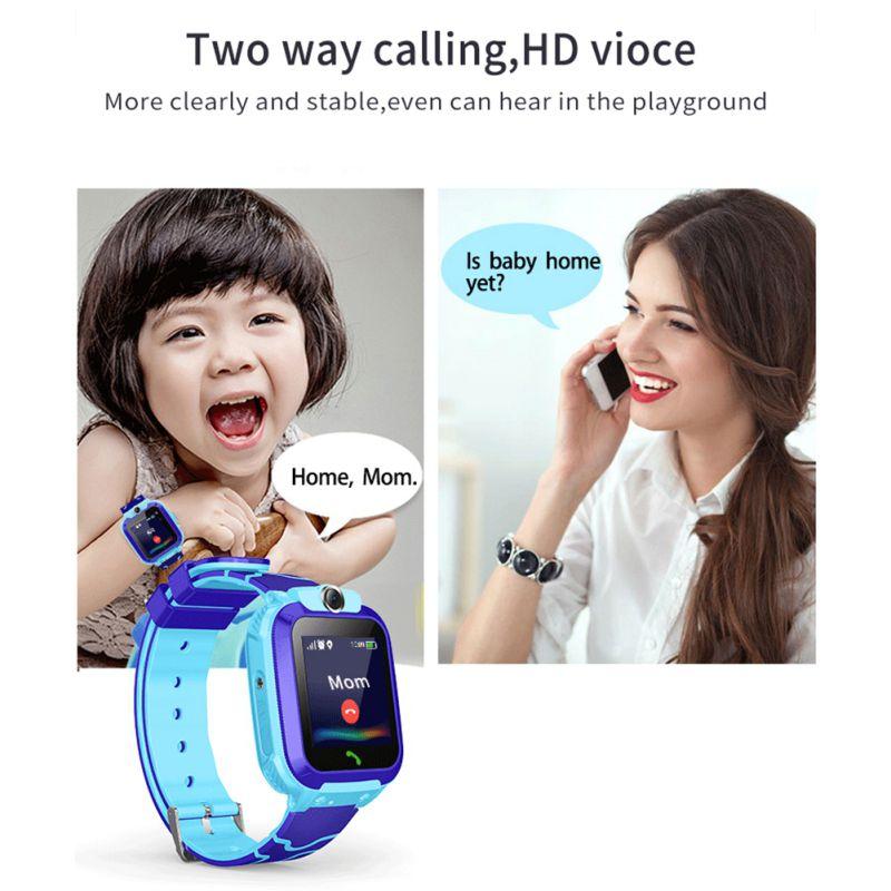 Watch Waterproof Kids Children's SOS Smart Remote-Monitoring Tracking Language-Intercom