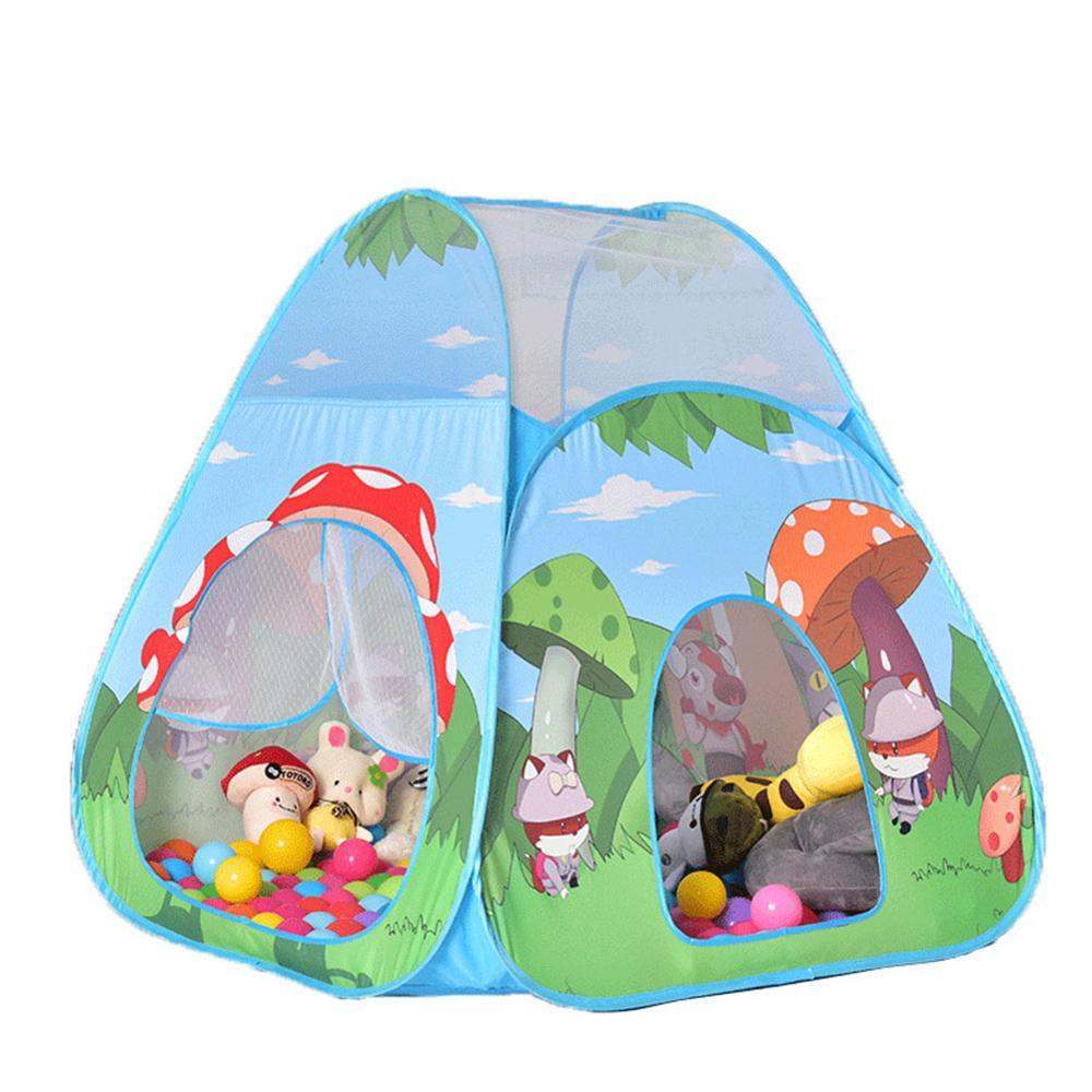 4 шт. детская палатка для помещений и улицы, детский игровой домик с океанским шариком, детский туннель из труб для ползания, игрушка, складная надувная палатка - Color: 03