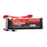 Wild Scorpion 14.8V 2200mAh 35C MAX 45C T Plug Lipo Battery 4S for RC Car Airplane Helicopter Part