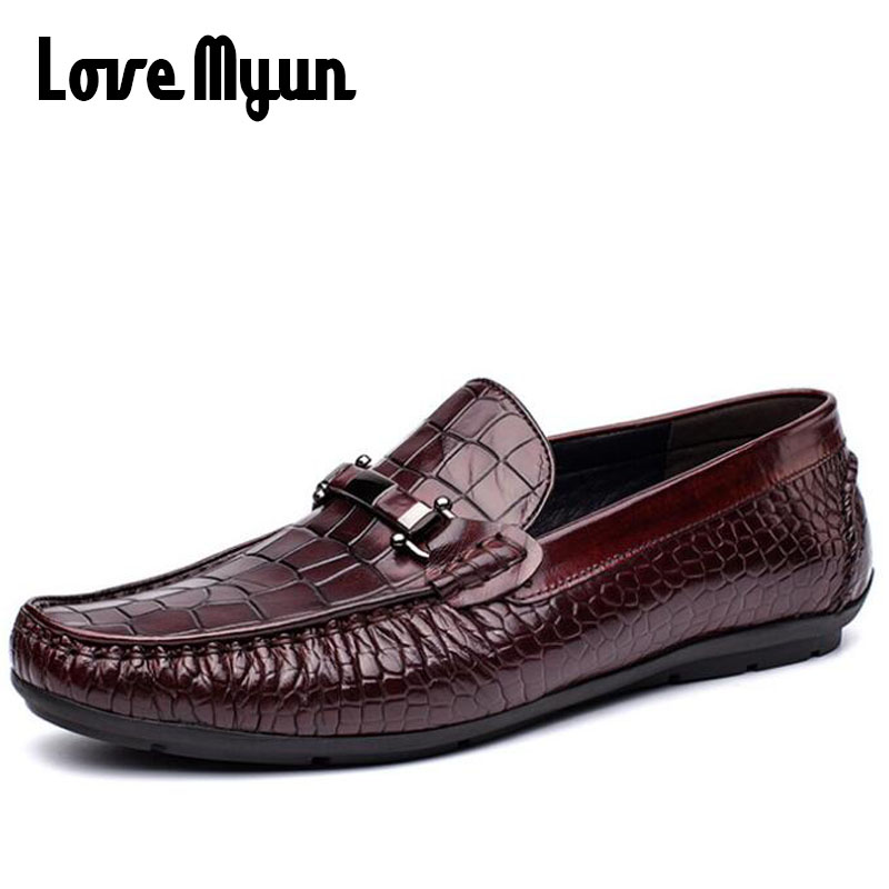 High Quality Brand Luxury Designer Men Business Boat Flats Casual Shoes Men Bullock Genuine Leather Loafers Driving Shoes II-72 grimentin fashion 2016 high top braid men casual shoes genuine leather designer luxury brand men shoe flats for leisure business