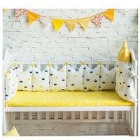 5 шт., дизайнерский комплект постельного белья для малышей, качественная хлопковая кроватка, детские постельные принадлежности для кроватк