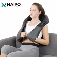 Naipo Multifunction Neck Shoulder Massager With Deep Shiatsu Kneading Technology Adjustable Intensity Kneading Cellulite Massag