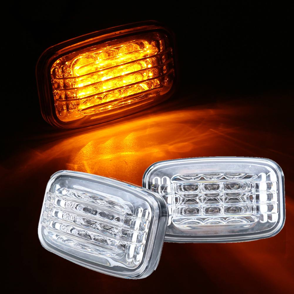Side Marker Turn Signal Light Amber Lens For Toyota Land Cruiser LC70 LC80 LC100
