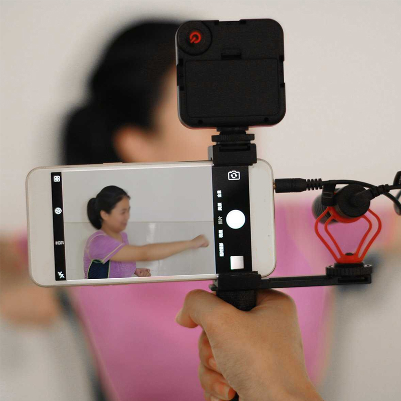SmartPhone Video Tripod Clamp Mount Adapter Vertical Bracket With Cold Shoe phone Holder Clip Clipper Sidekick Set Meal For Live in Phone Holders Stands from Cellphones Telecommunications
