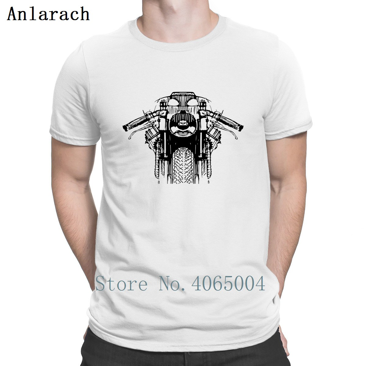 Cafe racer Motorcycle Rider   T     Shirt   Novelty Graphic Authentic Tee   Shirt   Solid Color Summer S-XXXL Design   Shirt