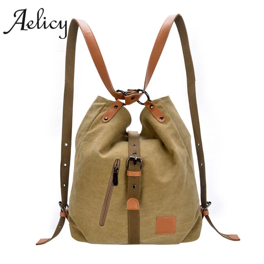 Female Handbag Lady Girls Casual Canvas Handbag Shoulder Bag Multifunctional Messenger Bag Sac A Main