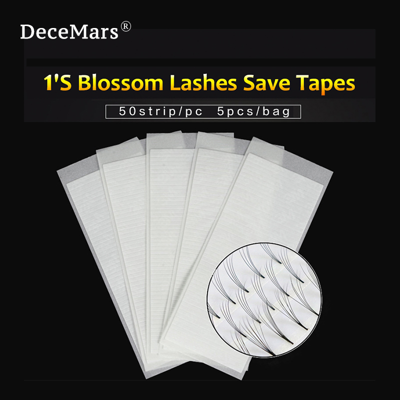 DeceMars Fast Fan Tapes For Volume Eyelash Extension Fast Blooming Tapes 1 Second Volume Fans Tools For Eyelash Extension