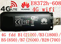 Desbloqueado huawei e8372h-608 4g 3g usb modem wi-fi 3g 4g carro wi-fi vara E8372 lte 3g 4G Wifi router 4G mifi Modem E8278 PK e8377