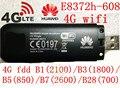 Desbloqueado huawei e8372h-608 4g 3g wifi usb módem 3g 4g wifi coche stick E8372 lte 3g 4G Wifi router 4G mifi Modem PK E8278 e8377