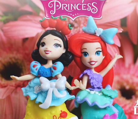 Free shipping 1pcs 8cm original snow white princess  The Little Mermaid Ariel  princess  figures toys educational kids toys морозильный шкаф love the snow 1 2 1 5 1 8
