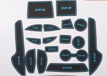 ПВХ слот двери ворота колодки/мат бак прокладка кубок мат/pad 14 шт. авто аксессуары Бесплатная доставка для MAZDA cx-5 cx5 cx 5 2013 2014 2015