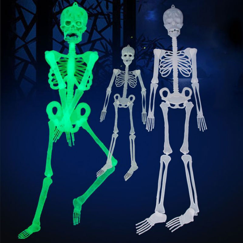 1Pcs Horror Luminous Movable Skull Skeleton Halloween