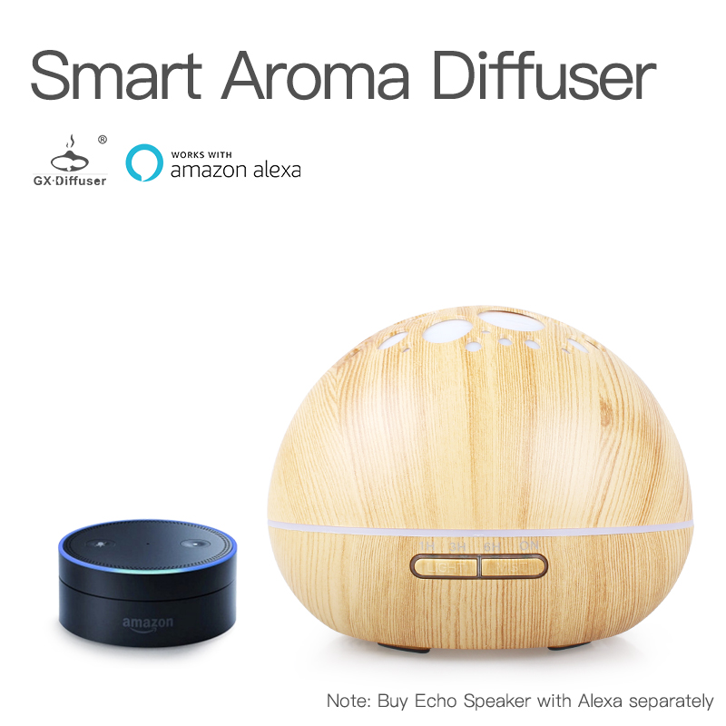 GX. diffuseur nouveau 300 ML Smart Wi-Fi diffuseur d'arôme électrique aromathérapie humidificateur d'air à ultrasons brumisateur avec Amazon Alexa