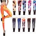 Harajuku Стиль 2016 Новые Моды для Женщин Sexy Красочные Galaxy Печатных Хорошие Эластичные Леггинсы Леди Дикие Тонкий Брюки