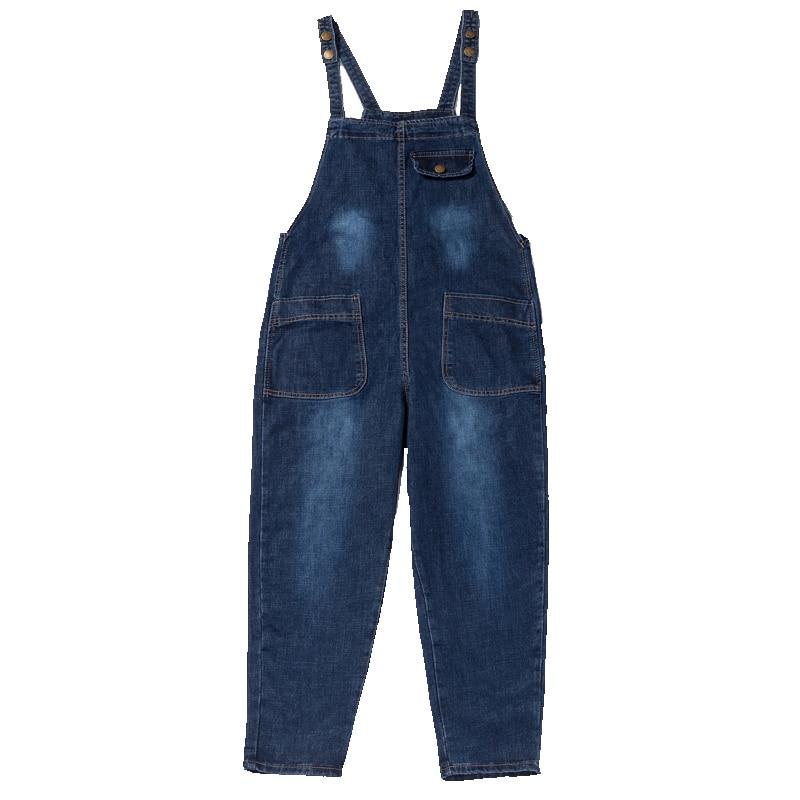 Mode S Livraison Qualité Haute Barboteuses Denim Jeans Pantalon De Femmes Salopette Plus Lâche Et 6xl Taille La 2017 Gratuite Pour qqrIz