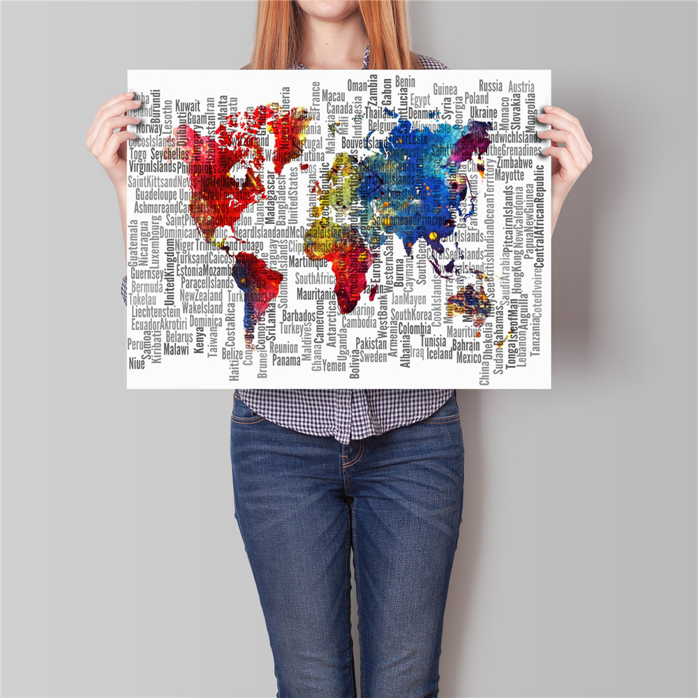 Vintage poster world map night earth home decoration painting bar vintage poster world map night earth home decoration painting bar cafe living room bedroom restaurant wall art sticker noframe in wall stickers from home gumiabroncs Gallery