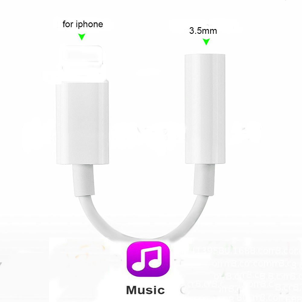 3.5mm Jack Audio Converter For Iphone X 8 8 Plus 7 7 Plus Earphones Headset Music Adapter For IPad Support IOS 11