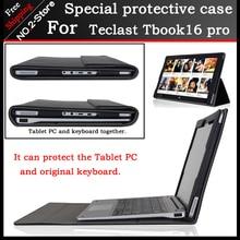 Original de negocios pu del soporte del cuero case para teclast tbook16 pro 11.6 pulgadas tablet pc teclado funda protectora de moda