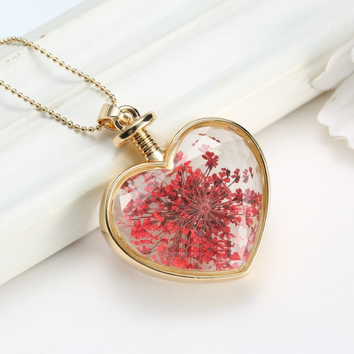 Transparent heart glass heart lockets necklaces necklaces pendant transparent heart glass heart lockets necklaces necklaces pendant gold chain necklace for women pink dried flowers mozeypictures Images