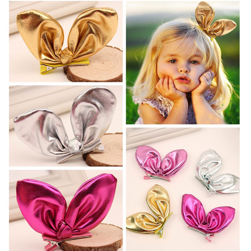 Ruoshui Girls Lovely Rabbit Ear Hair Pins Baby Hair Clips Cute Barrettes Kids Hair Accessories Hair Grip Korean Style   Headwear