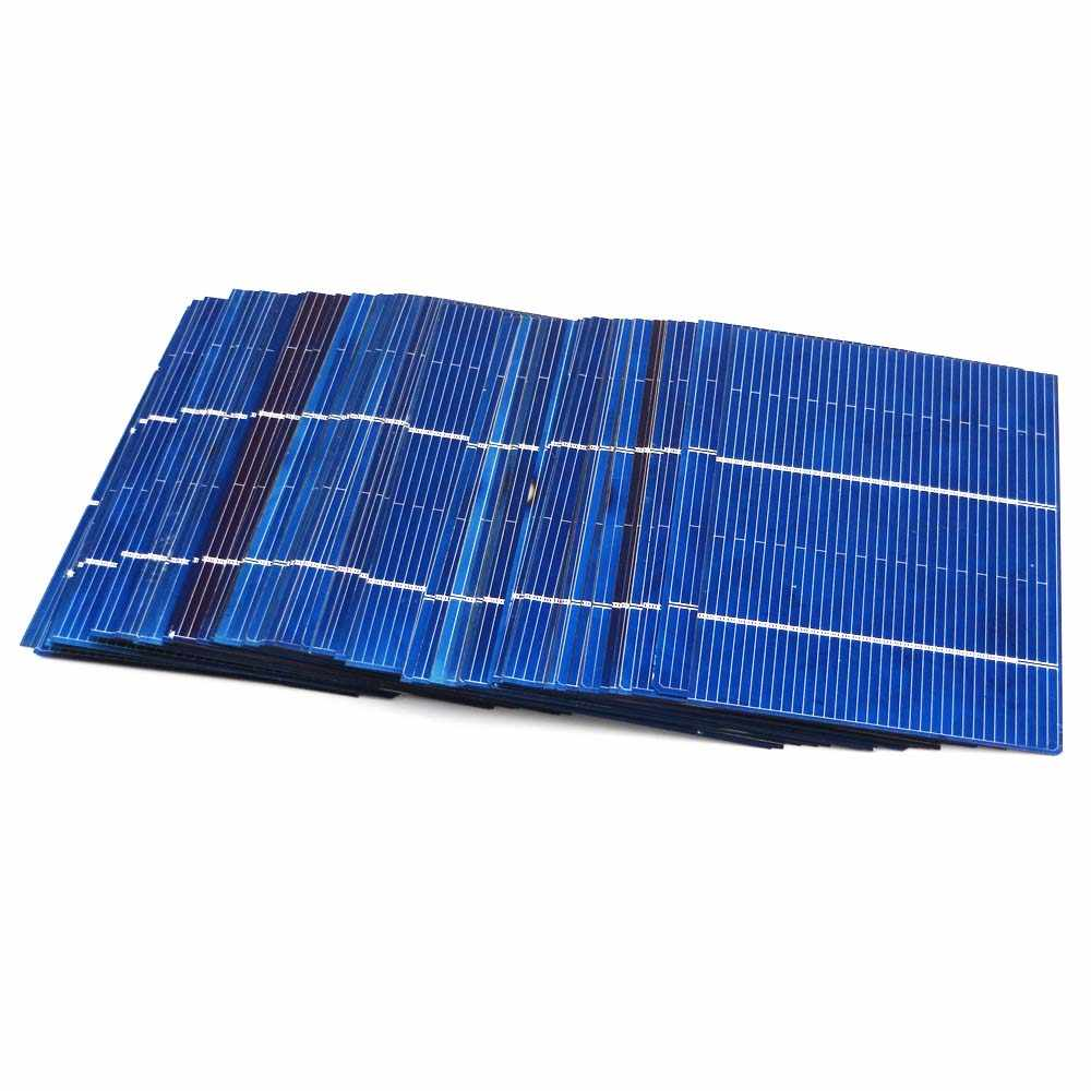 DIY Solar Cells  0.66W 78*52mm 50Pcs Solar Panel Polycrystalline Photovoltaic Module Battery Charger Painel 78X52