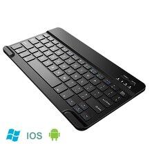 Portable Mini Slim Wireless Bluetooth Keyboard + Case For iPad Tablet L