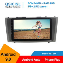 android 9.0 car radio multimedia player for Toyota Camry 2007 2008 2009 2010 2011 1 din 9