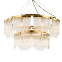 Light luxury modern living room chandelier bedroom hotel restaurant round creative crystal villa clothing store decorative liing